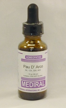 Pau D' Arco Homeopathic (Colds, Flu, Viral bacterial fungal infections)