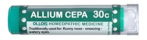Natural Home Remedy for Runny nose, sneezing, watery eyes | Allium Cepa 30C Homeopathic 80 Pellets (Lactose-Free/Vegan) by Ollois